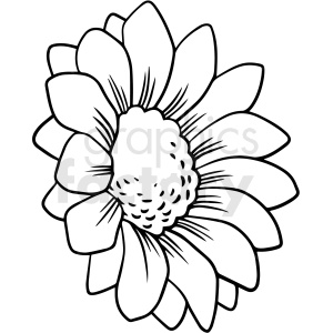 Black And White Flower Vector Clipart Commercial Use Gif Jpg Png Eps Svg Ai Pdf Clipart 411537 Graphics Factory