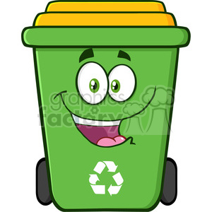 Royalty Free Rf Clipart Illustration Happy Green Recycle