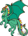 green cartoon dragon