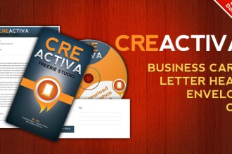 Download Business card, letterhead, envelope, CD label .PSD files