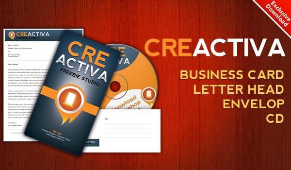 Download Business card, letterhead, envelope, CD label .PSD files