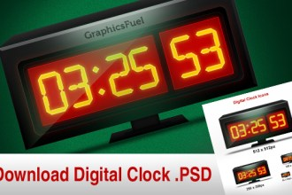 Download Digital Clock graphic and it's icon in different sizes