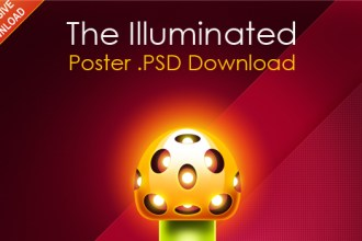 Eye-catching poster design in Photoshop and Icons