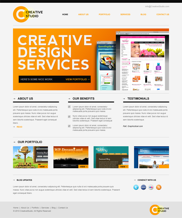 Latest Free Web Page Templates Psd Css Author: Free XHTML/CSS Website Template