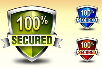 Download security shield / badge and icons in 3 colors