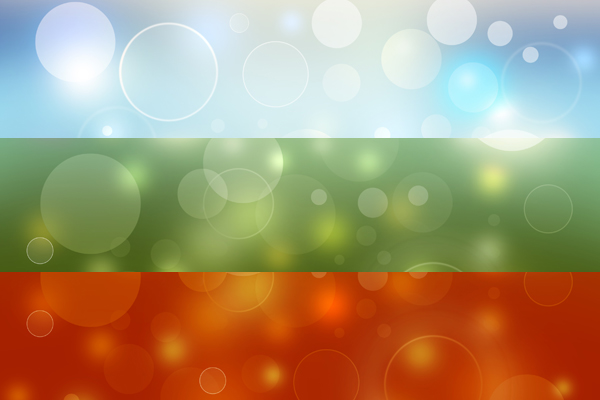 Bokeh Wallpapers High Quality: High Resolution Abstract Bokeh Background In 3 Colors