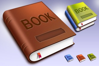 PSD book template & icons