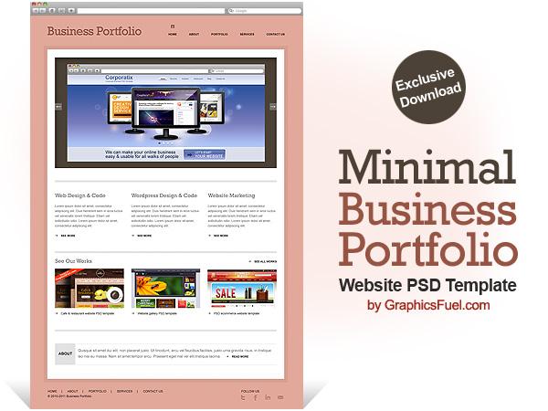 business portfolio template
