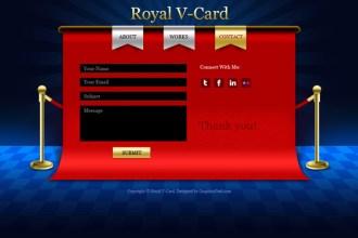 V-Card website PSD templates