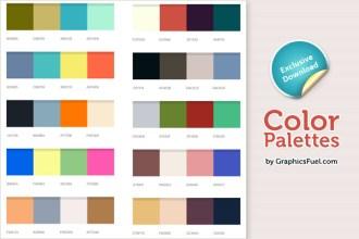 Excellent color palettes (PSD)