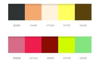 12 beautiful color palettes (PSD)
