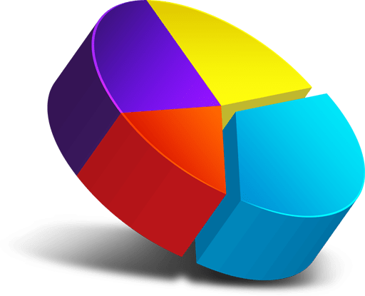 3D pie chart icon - GraphicsFuel