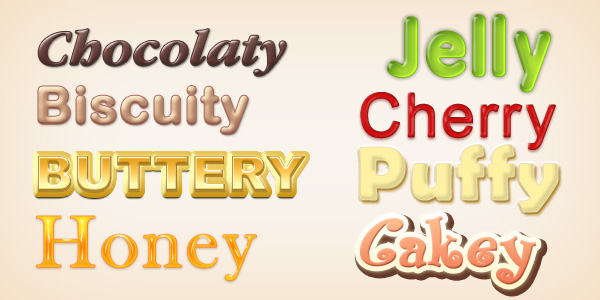 Yummy Photoshop Text Styles (PSD & ASL) - GraphicsFuel