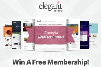 3 WordPress Themes Lifetime Membership Giveaway from ElegantThemes