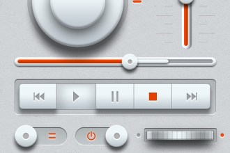 Light Music UI Design Kit (PSD)