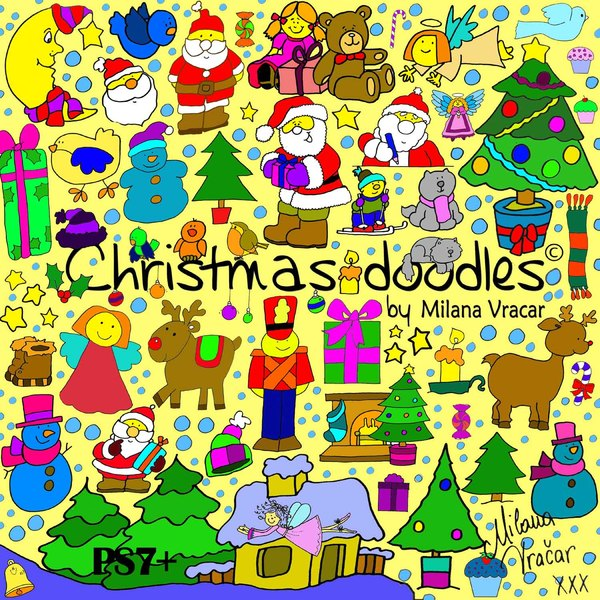 Christmas-doodles