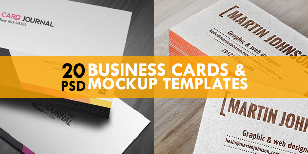 20 Free Business Cards Mockup Psd Templates Graphicsfuel