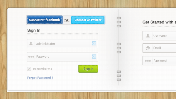 login-and-signup-form