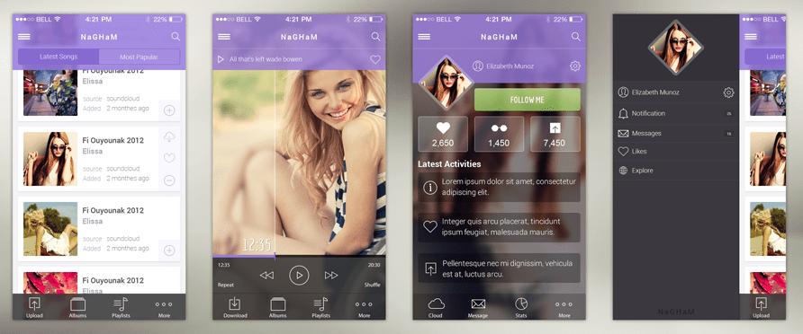 nagham-music-ios-app-psd