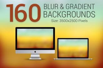 160 Blur & Gradient Backgrounds