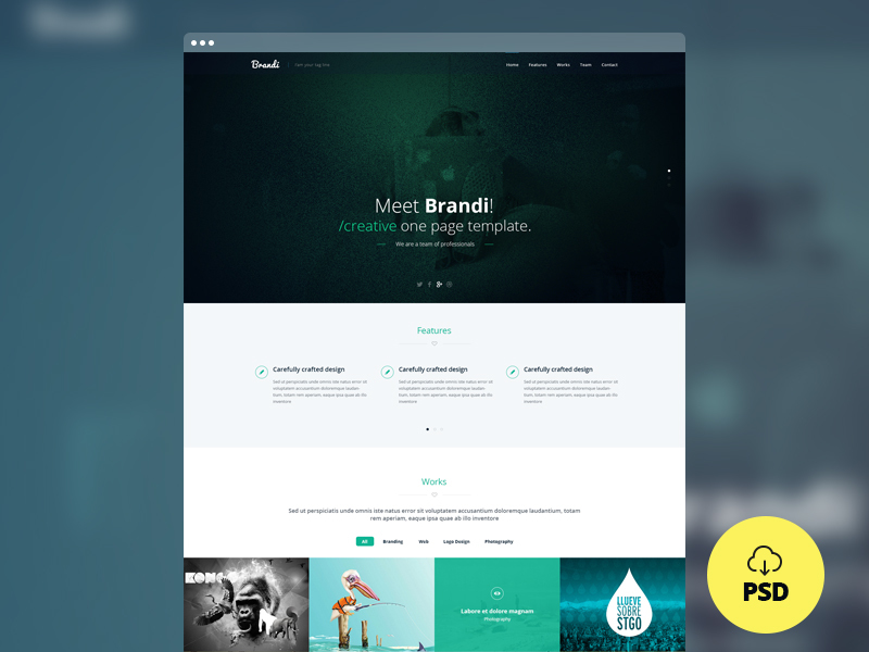 onepage-multipurpose-psd-template