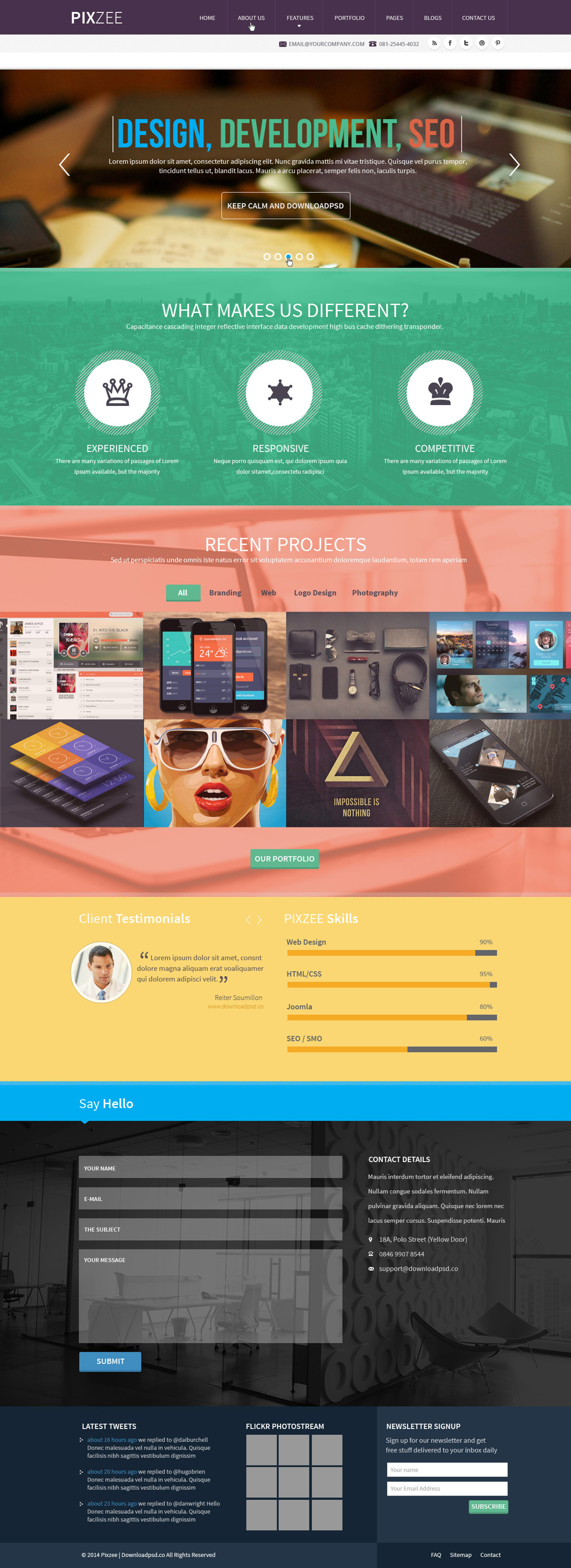 pixzee-single-page-website-psd
