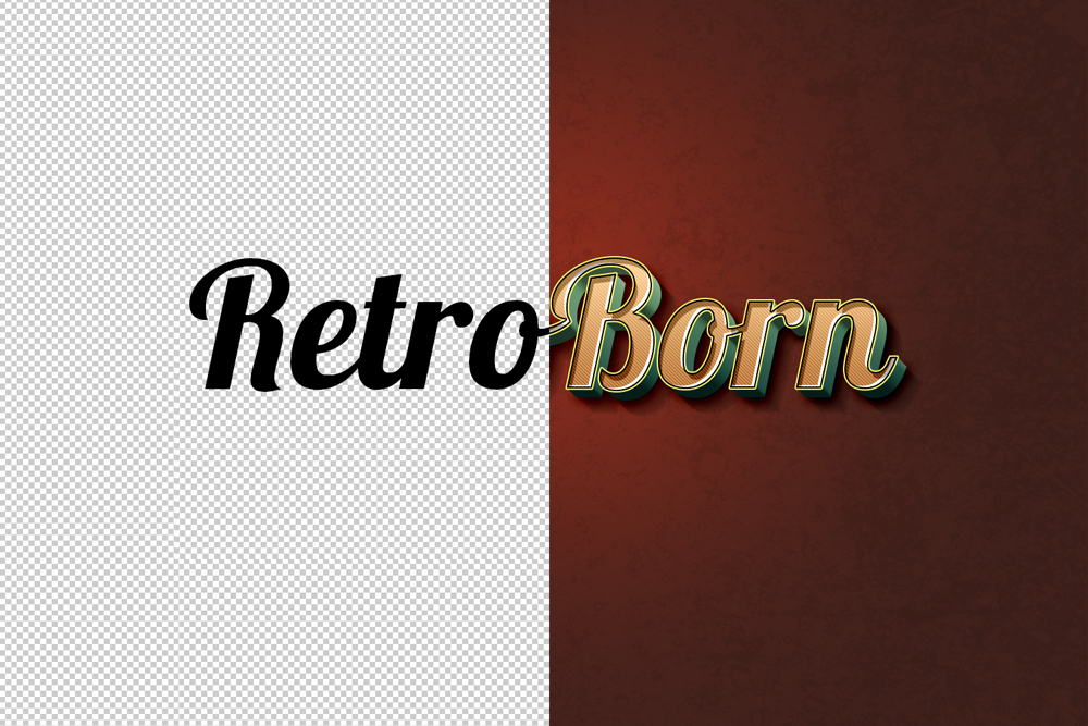 Retro Text Effect PSD - GraphicsFuel