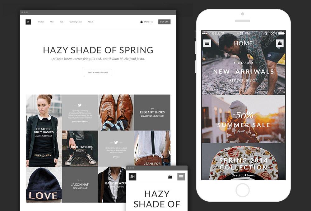 Store Website Mobile App PSD