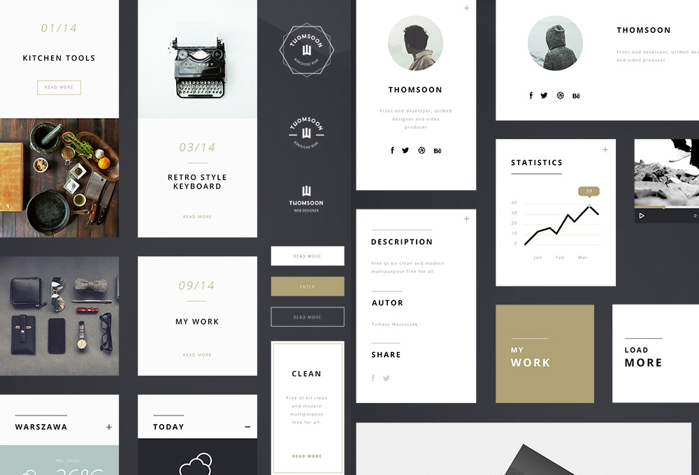 Free UI Kit Multipurpose Elements