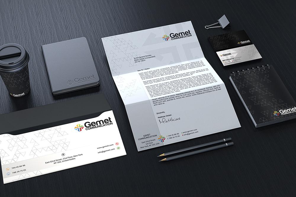 Corporate Branding Identity Mockup 01