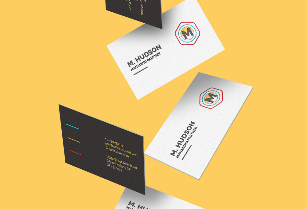 Free Falling Business Cards Mockup Graphicsfuel
