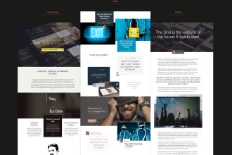 The Grid: FREE Website PSDs