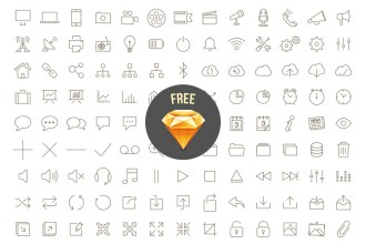 200 Free Outline Icons & Fonts