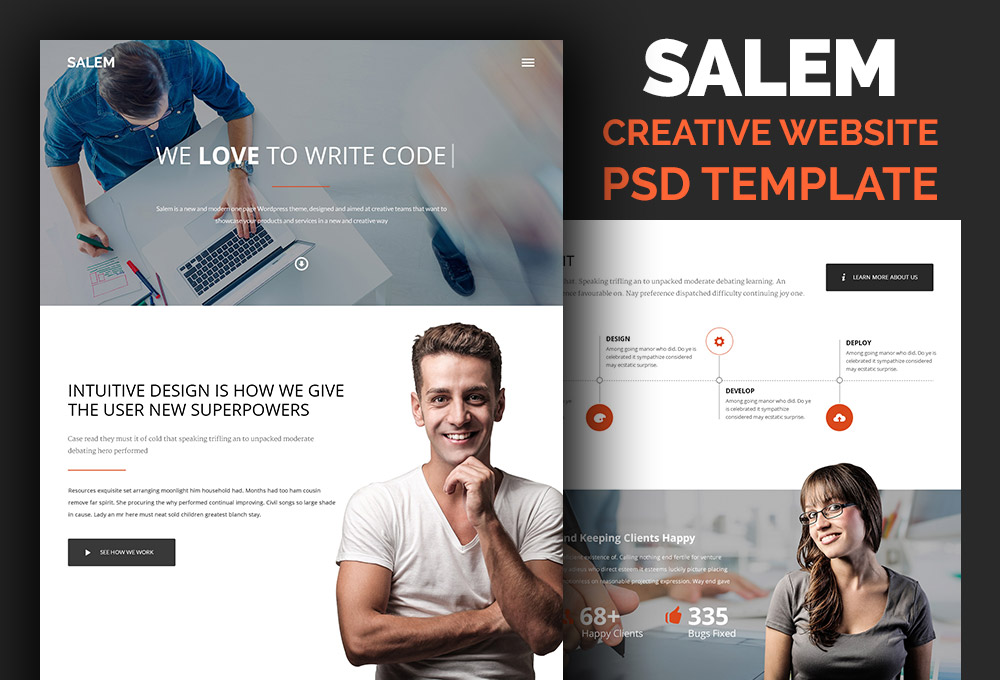 free-website-psd-template