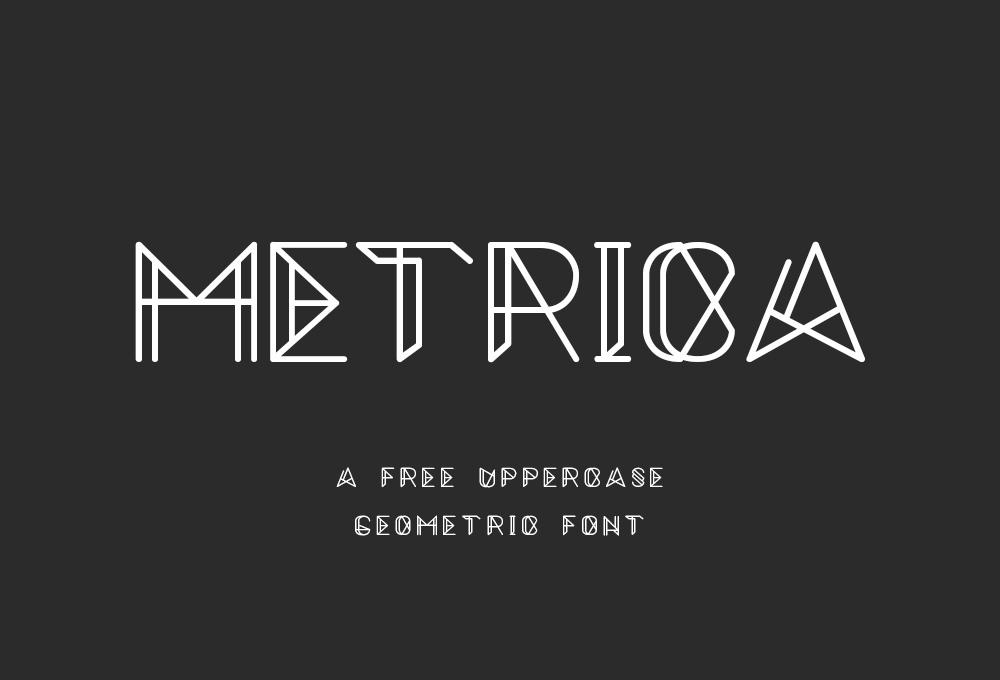 free-metrica-font