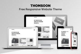 THOMSOON: Free Responsive Portfolio Theme