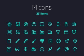 Micons: Free Outline Icons