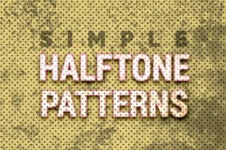16 Free Halftone Seamless Patterns