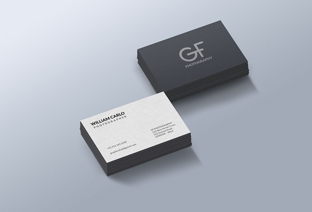 free business card mockup psd  graphicsfuel