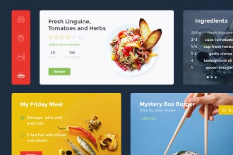 Free PSD UI Kit for Food and Drink