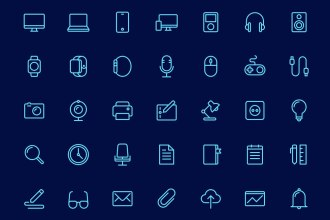 50+ Free Office Outline Icons