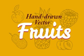 15 Hand-drawn Free Vector Fruits