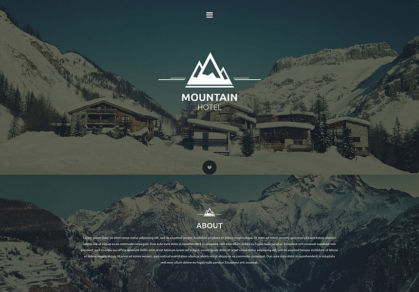 single-page-hotel-website