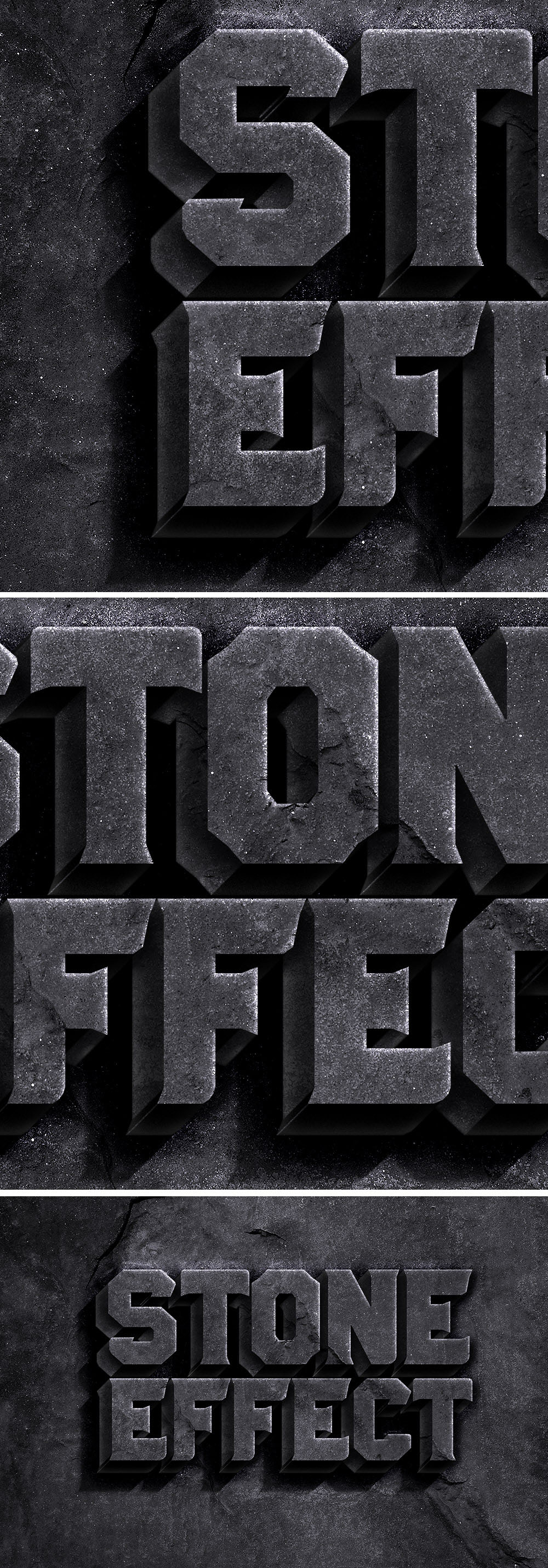 Rock Text Effect PSD