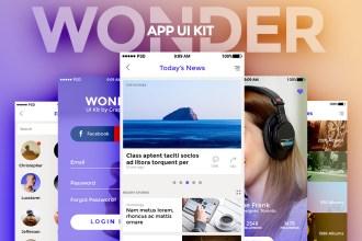 WONDER: Free App UI Kit