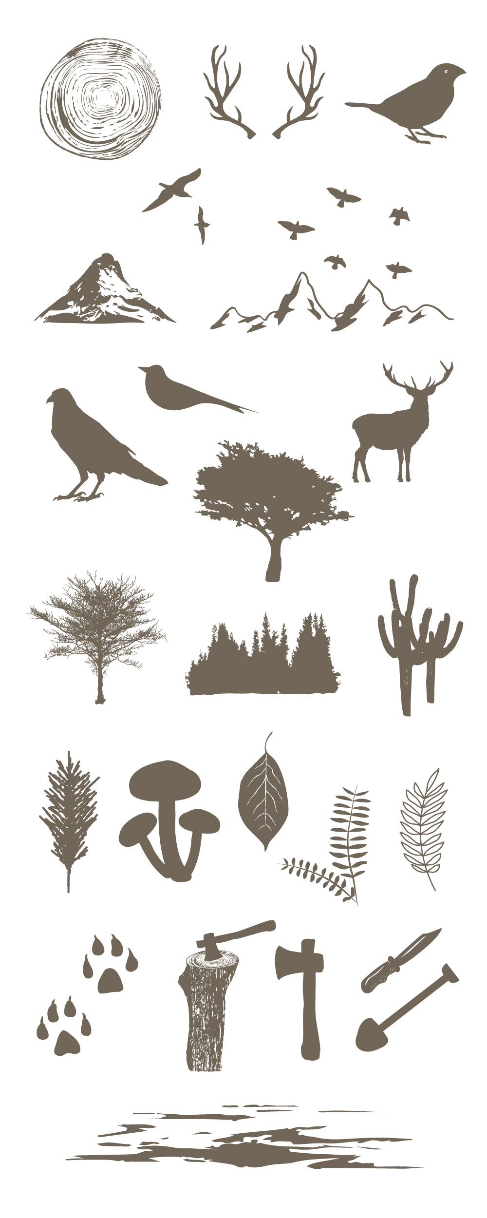 Forest Vector Elements