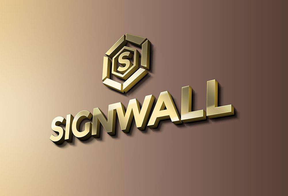 Signwall Logo Mockup