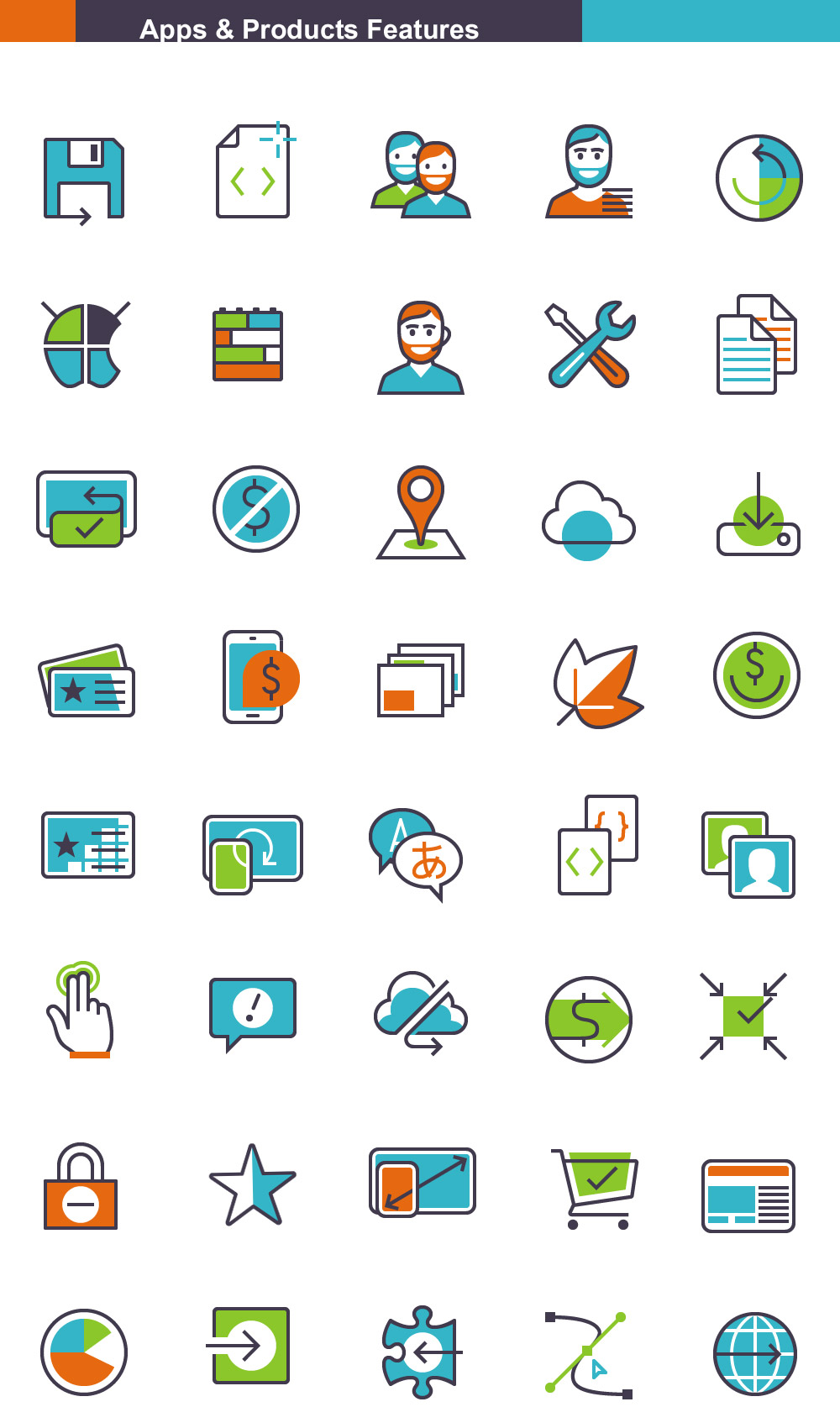Free Apps & Products Vector Icons