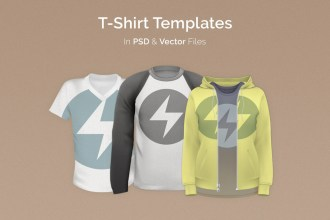 T-Shirt Templates Pack: PSD & Vector Files