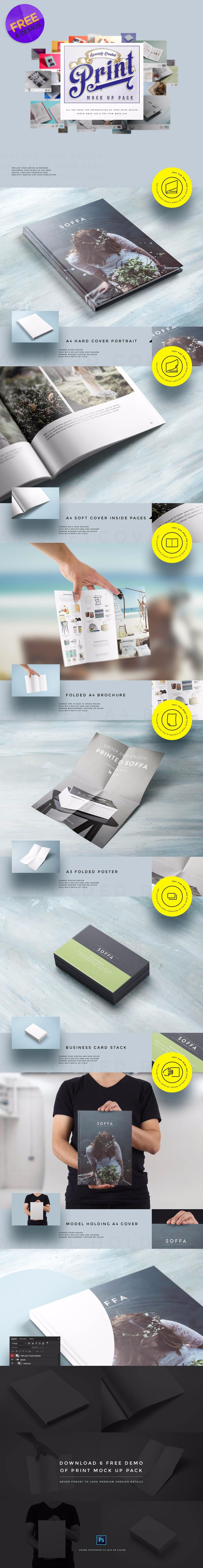 Free Print Mockup Pack PSD
